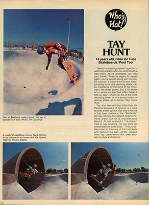 Tay Hunt - Badlands Skateboards at Sk8Kings.com