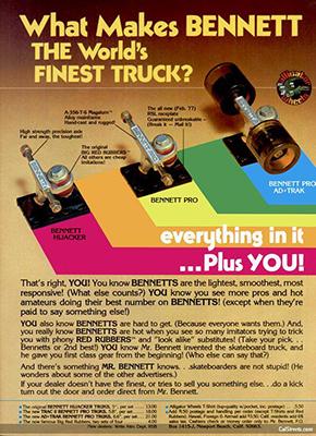 Bennett Worlds Finest ad 1970's