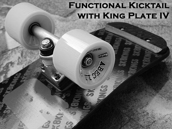 Blaster Carbon Fiber Longboard functional kicktail with skid plate option at Sk8Kings.com