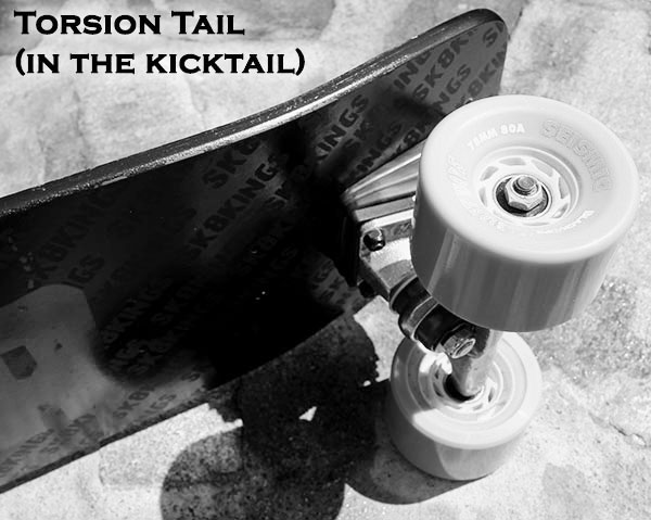 Blaster Carbon Fiber Longboard torsion tail option at Sk8Kings.com
