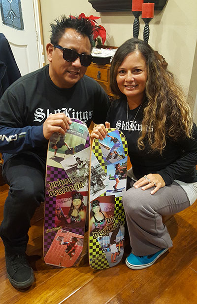 Primo & Diane Desiderio with Pro Models - decks available at Sk8Kings.com