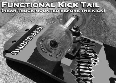 Maximus functional kicktail with skid plate option at Sk8Kings.com