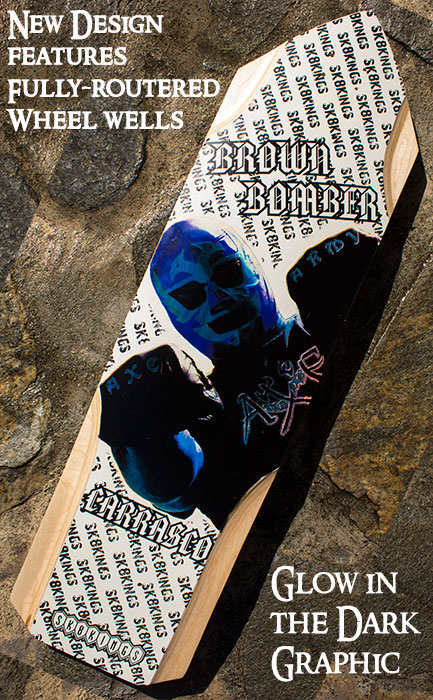 Brown Bomber Glow in the Dark WoodySeries Axe Decks @ Sk8Kings.com