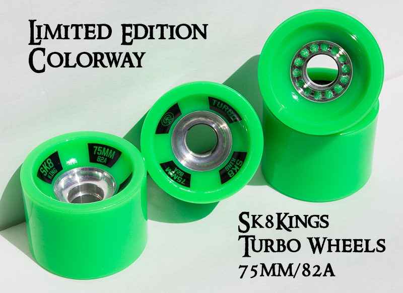Sk8Kings Turbo Wheels-Ltd Ed Green @ Sk8Kings.com