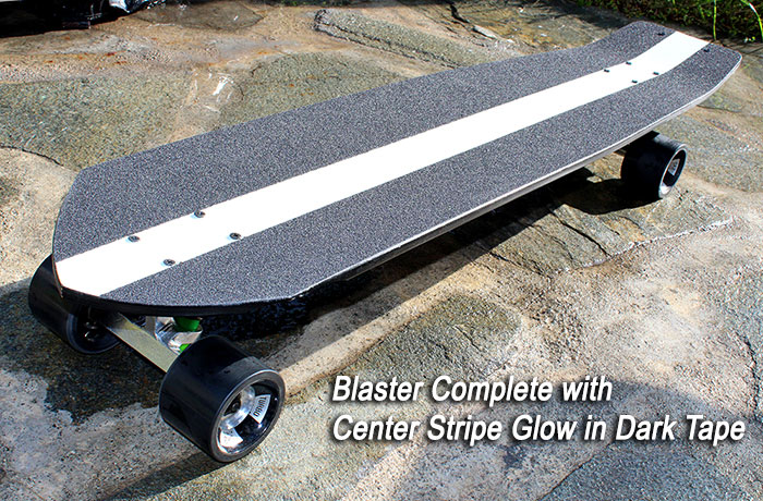 Custom Glow-In-The-Dark Center Stripe grip tape option @ Sk8Kings.com
