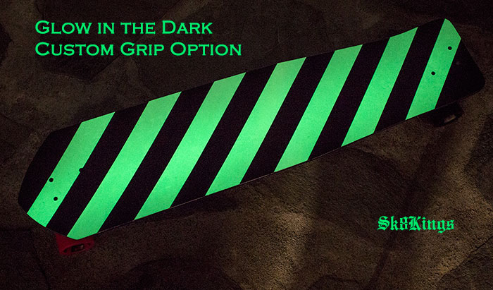 Custom Glow-In-The-Dark Stripe grip tape option @ Sk8Kings.com