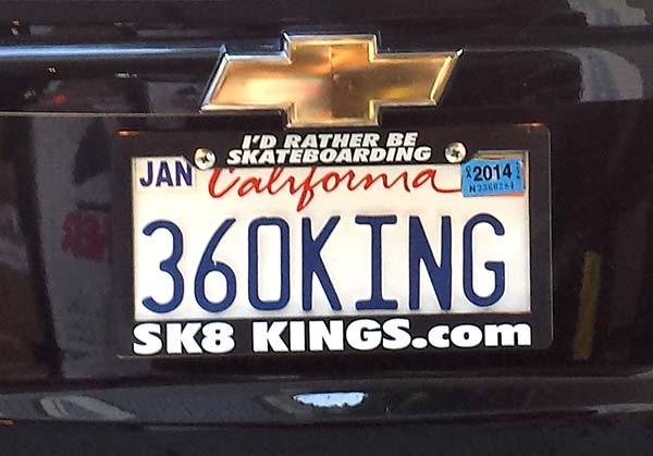 Sk8Kings License Plate Frame at Sk8Kings.com