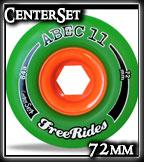 Abec-11 CenterSet FreeRide Wheels at Sk8Kings.com