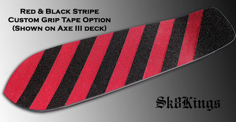 Custom Red & Black Stripe grip tape option @ Sk8Kings.com